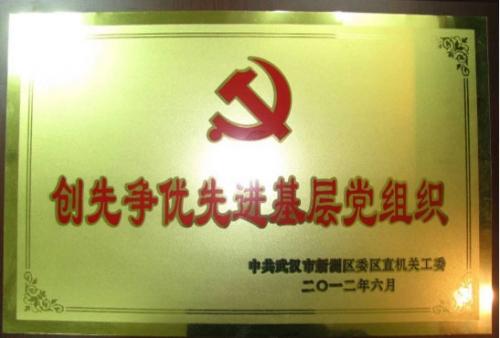 武汉市新洲区创先争优先进基层党组织